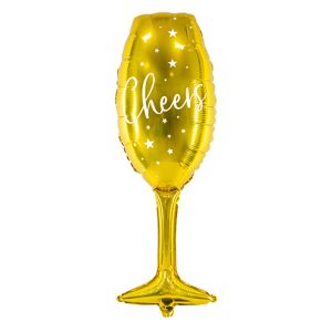Folieballon wijnglas Cheers (80cm)